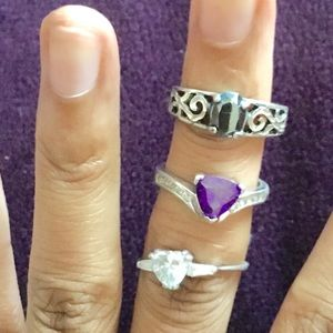 Jewelry - Lot of sterling silver rings